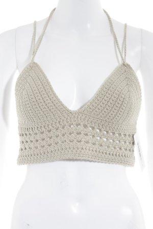 Crochet Top oatmeal Boho look