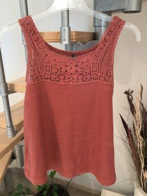 Crochet Top brick red