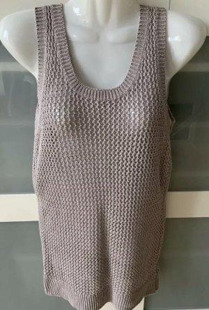 H&M Crochet Top grey brown