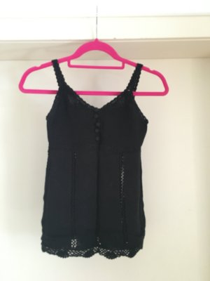 s.Oliver Crochet Top black