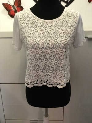 Only Crochet Top natural white mixture fibre