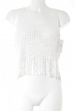 Crochet Top white casual look
