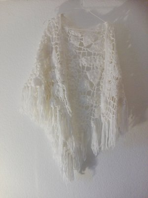 Shoulder Scarf white polyester