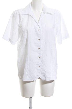 Hämmerle Kurzarmhemd weiß grafisches Muster Casual-Look
