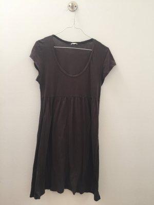 American Vintage Vestido de tela de jersey gris antracita-taupe