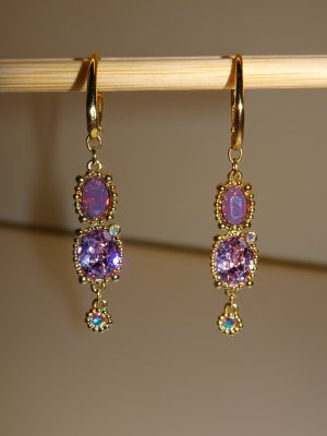 Swarovski Dangle lilac