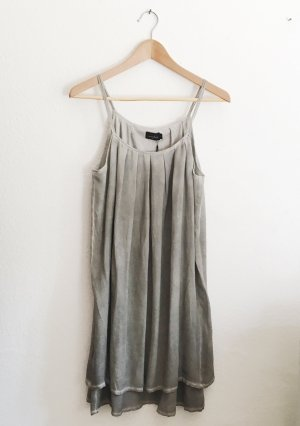 Liebeskind Berlin Babydoll-jurk zilver-lichtgrijs Zijde