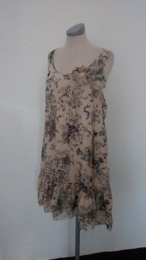 Hängerchen Minikleid Kleid kurz Chiffon New Look Gr. UK 14 EUR 42