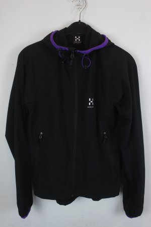 Windbreaker black-blackberry-red polyamide