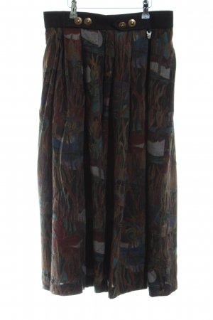 Hagro Traditional Skirt brown-turquoise abstract pattern casual look