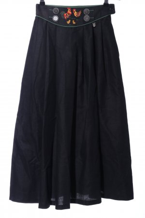 Hagro Traditional Skirt black embroidered lettering classic style