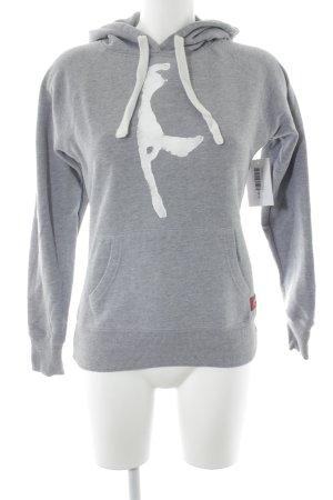 Hai Hamburg Jersey con capucha gris claro-blanco letras impresas