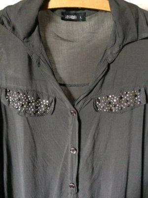 Haily's Bluse - grau - Größe L