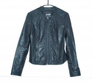 Haily's Lederjacke schwarz gesteppt