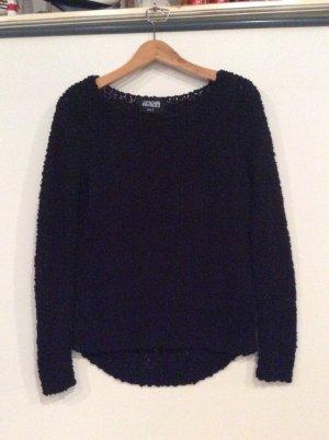 Hailys Boucle Pullover Gr S schwarz