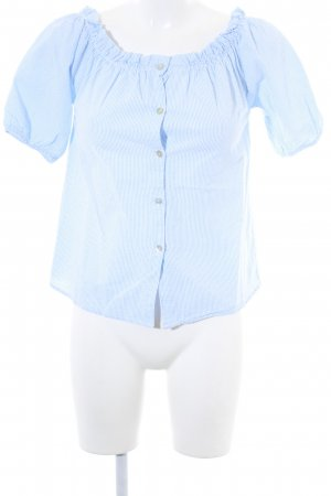 Hailys Carmen Shirt white-azure striped pattern beach look