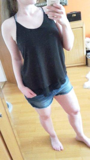 Hailys Damen Top Blusentop Blusenshirt Gr. S schwarz