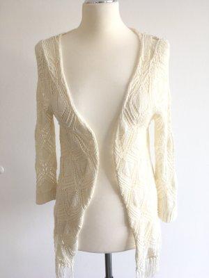 Hailys Cardigan en crochet blanc cassé acrylique