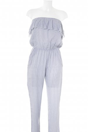 Hailys Jumpsuit white-dark blue floral pattern casual look