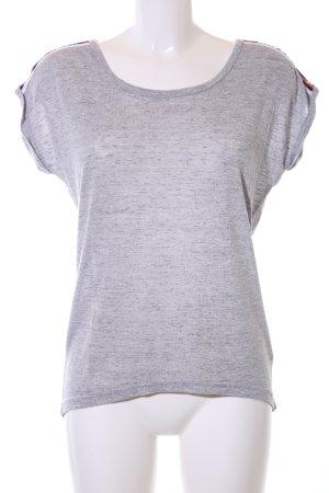 Hailys T-Shirt hellgrau meliert Casual-Look