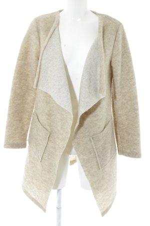 Hailys Giacca di lana crema puntinato stile casual