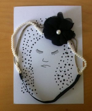 Hairband Black with Pearls