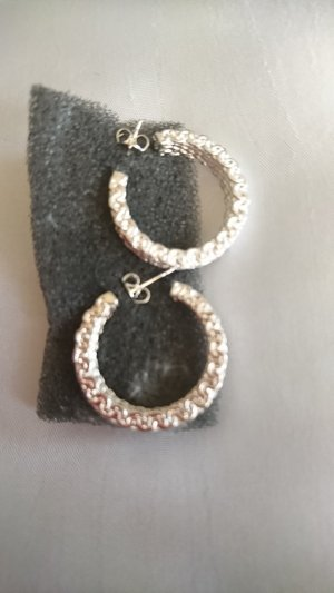 no name Ear Hoops silver-colored