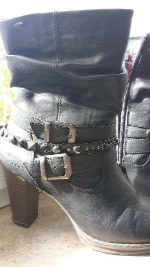 Tom Tailor Botas de tobillo negro