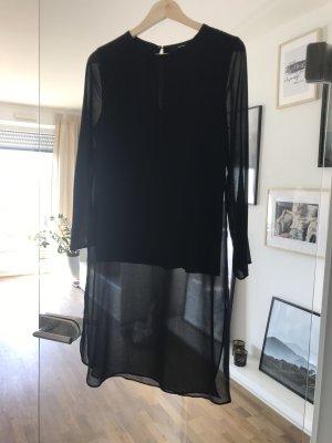 Halb transparente Long-Bluse
