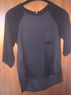H&M Blusa tipo body negro Seda