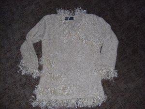 Grof gebreide trui licht beige
