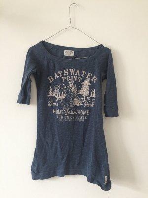 Tommy Hilfiger Denim T-Shirt slate-gray-steel blue cotton
