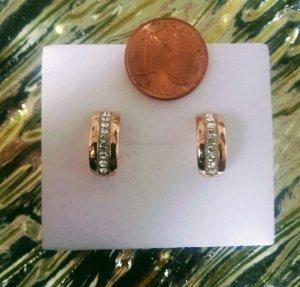 Halbcreolen Rosèfarben in Silber