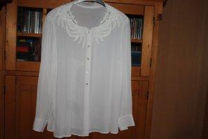 ae elegance Long Sleeve Blouse white viscose