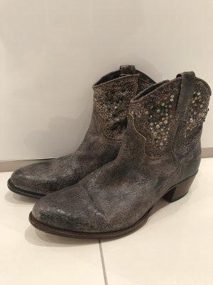 Frye Low boot gris brun cuir