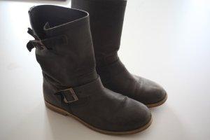 Buffalo London Botas de tobillo gris oscuro-gris pizarra Cuero