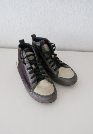 halbhohe Sneaker  lila beige