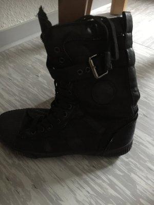 Lace Shoes black imitation leather