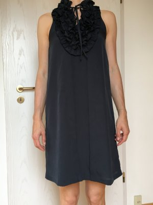 halblanges Abendkleid, dunkelblau, Gr. XS/S