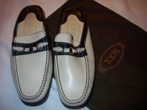 0039 Italy Chaussures basses blanc-noir cuir