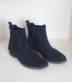 Tommy Hilfiger Chelsea Boots dark blue leather