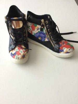 Sneakers zwart-blauw