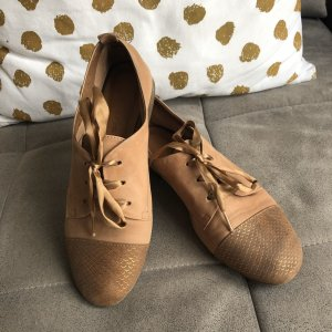 Tamaris Lace Shoes brown-gold-colored