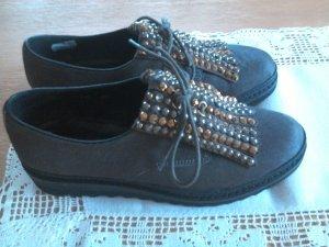 Alma en Pena Lace Shoes grey fur