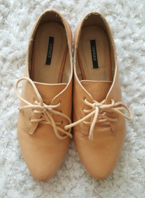 Forever 21 Wingtip Shoes nude-dusky pink
