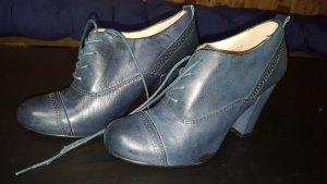 Halbschuhe mit Absatz graublau echtes Leder 38 Cox