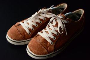 Crocs Lace Shoes cognac-coloured-brown red