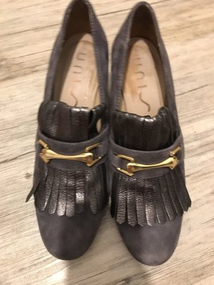 Unisa Mary Janes grey brown-gold-colored