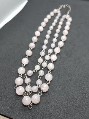 Halbsteine 2-reihige Halskette