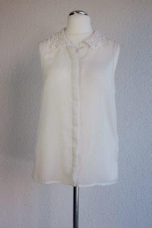Vila Mouwloze blouse wit-wolwit Polyester